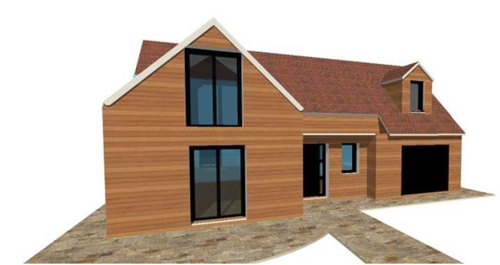 Constructeur bois de maisons ossature bois maisons - Maison ossature bois haut de gamme ...