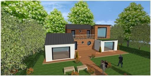 Plan modele maison concept constructeur lofts pilotis for Constructeur maison architecte