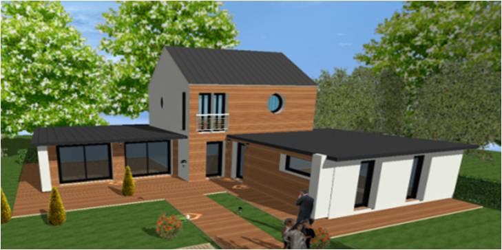 Constructeur construction maisons contemporaines modernes for Constructeur maison bois contemporaine 77
