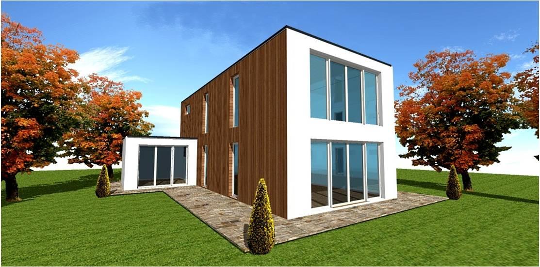 Maison moderne toit plat toit terrasse cubiques cubes for Maison moderne 94