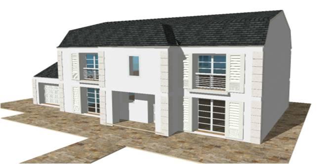 Constructeur maison modele plan photo mansart 4 pentes for Constructeur maison 78