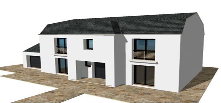 Constructeur maison modele plan photo mansart 4 pentes for Constructeur maison contemporaine essonne