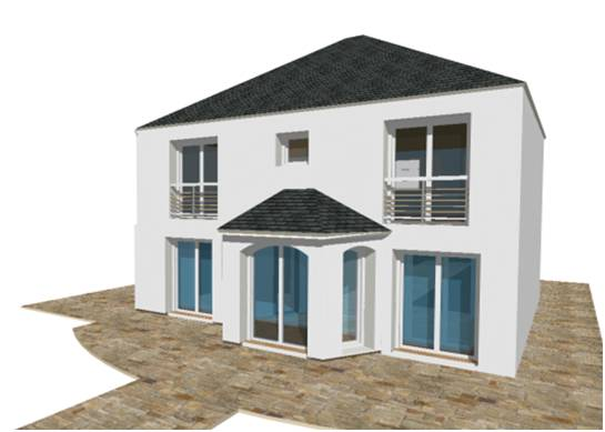 Constructeur maison modele plan photo mansart 4 pentes for Plan maison constructeur