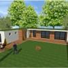 maison toit terrasse cube cubique toit plat bac acier moderne