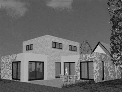 Maison Moderne Toit Plat Toit-Terrasse Cubiques Cubes Carrees ...