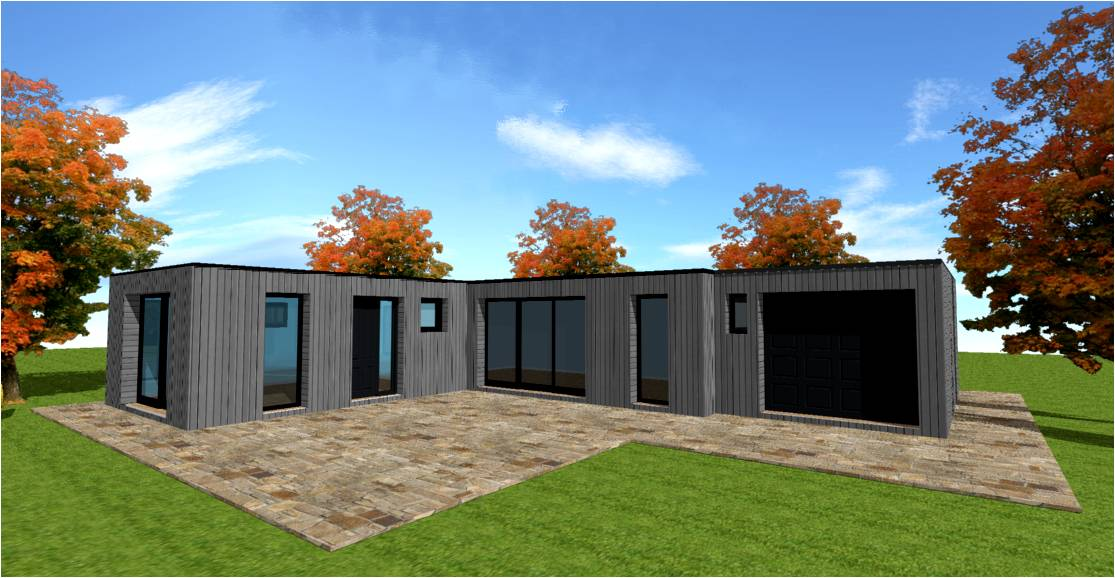 Plan des maison en container for Maison moderne container