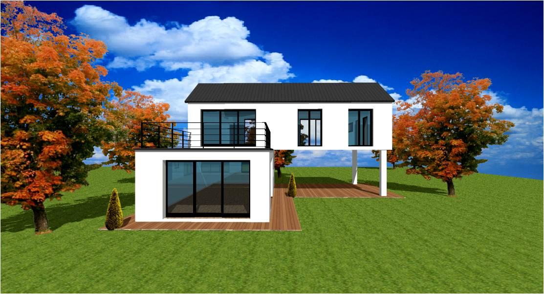 Plan modele maison concept constructeur lofts pilotis for Plan maison haut de gamme