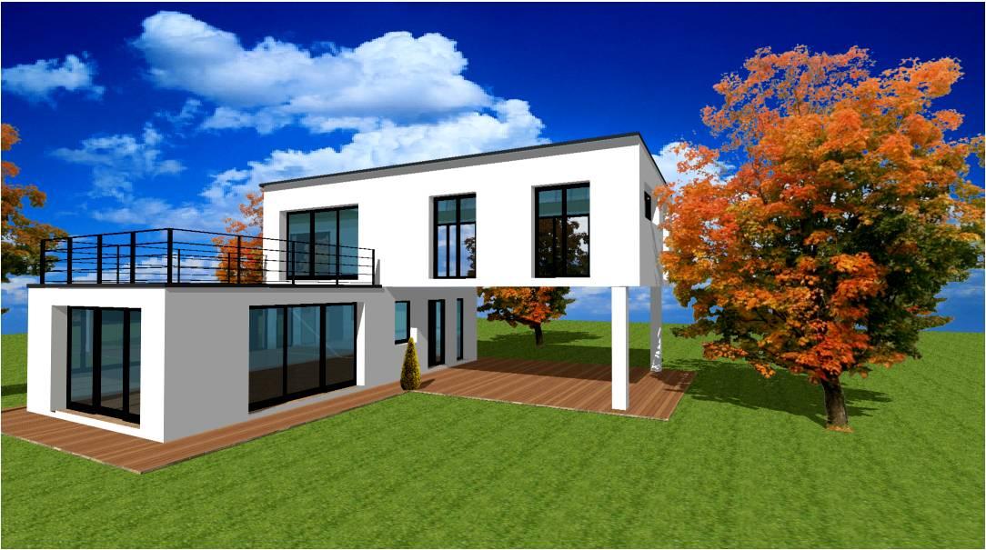 Plan modele maison concept constructeur lofts pilotis for Constructeur maison contemporaine essonne