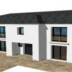 toit toiture Mansart mansard zinc ardoise 4 R1 Moderne Maison Constructeur Architecte 3