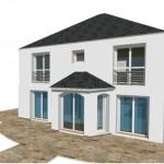 4 pentes Moderne Maison Constructeur Architecte