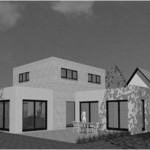 Toit terrasse Cube cubique carree concept archi contemporain maison moderne constructeur architecte