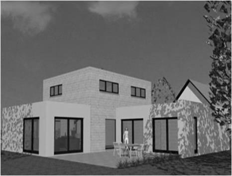 Maison Moderne Toit Plat Toit-Terrasse Cubiques Cubes ...