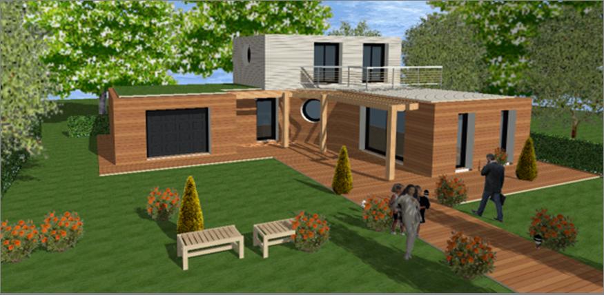Maison moderne toit plat toit terrasse cubiques cubes carrees maisons qualitis construction de - Forme de toiture maison ...